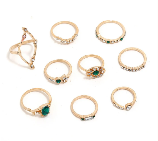 Emerald 9-piece Ring