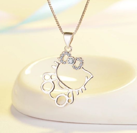 Hollow Hello Kitty Necklace