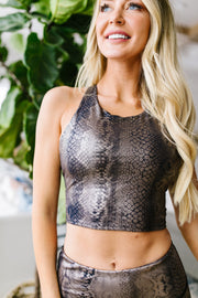 Copperhead Cropped Sports Top
