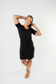 Cute Comfort Dress In Black