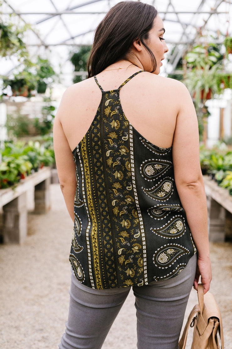 Glad Paisley Tank Top