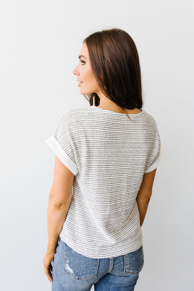 Heathered Stripes Top