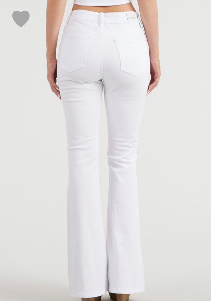 Judy Blue White Boot Cut Jeans