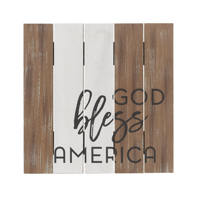 God Bless America Pallet Sign