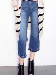 Judy Blue Straight Shooter Raw Hem Crop