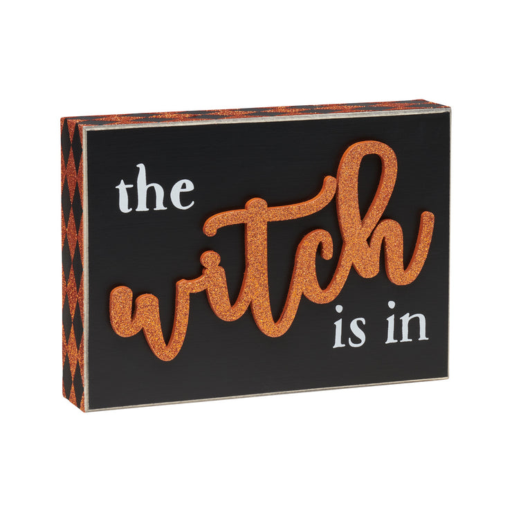 Witch is in 3D Box Sign