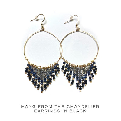 Hang From the Chandelier Earrings in Black