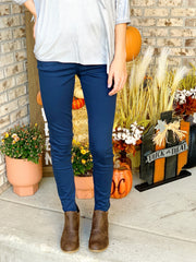 Judy Blue Game Day Skinny Navy Jeans