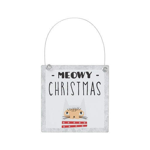 Meowy Tin Ornament
