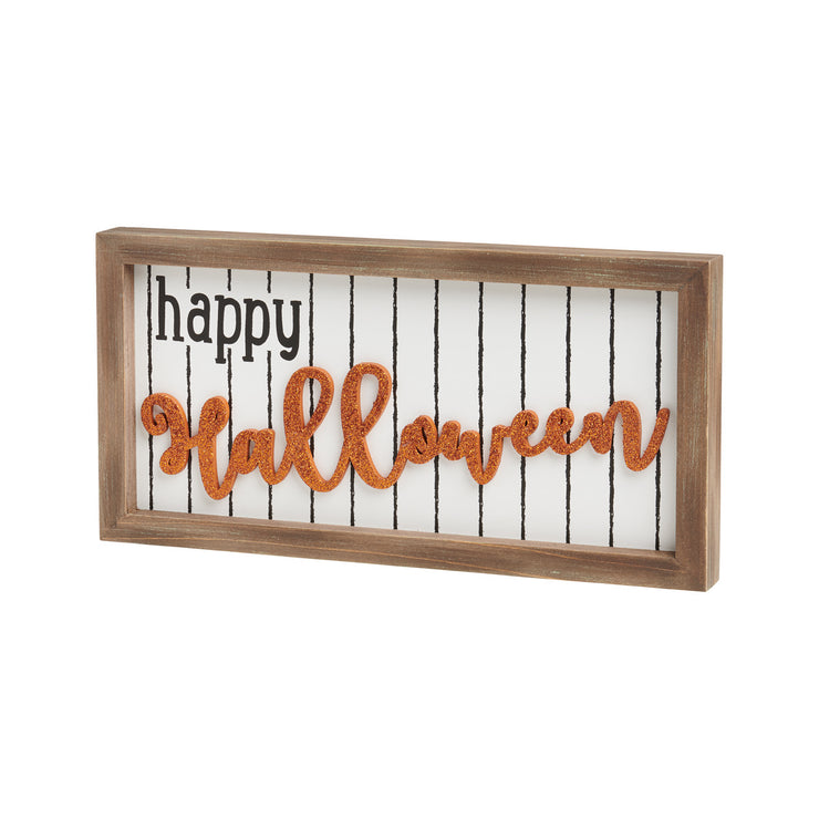 Halloween 3D Glitter Sign