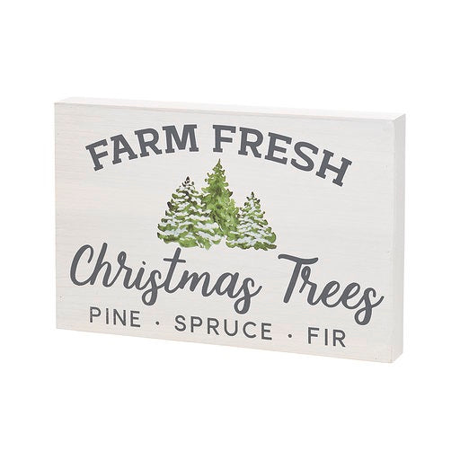 Farm Fresh Tree Box Sign