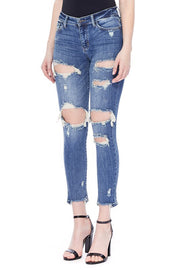 Judy Blue Extreme Distressed Crop Jeans