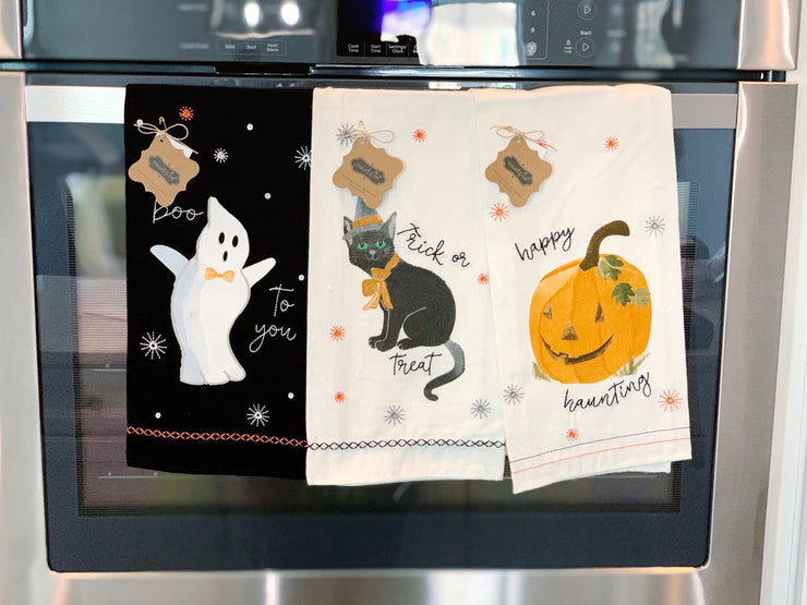 Ghost Sequin Hand Towel