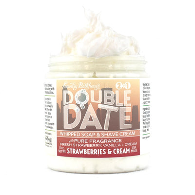 Double Date Whipped Soap and Shave Cream - Strawberries & Cream
