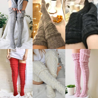 One Size Cable Knit Stockings