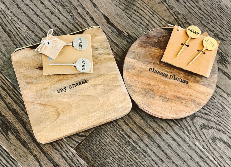 Square Cheeseboard Tray Set