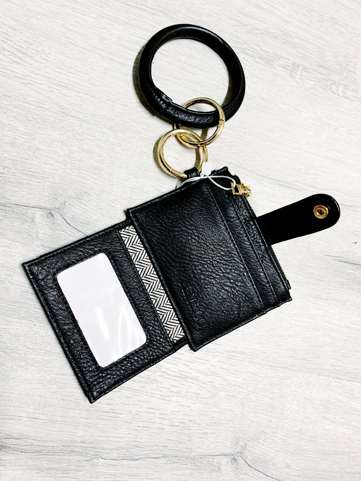 Black Wristlet Key Ring