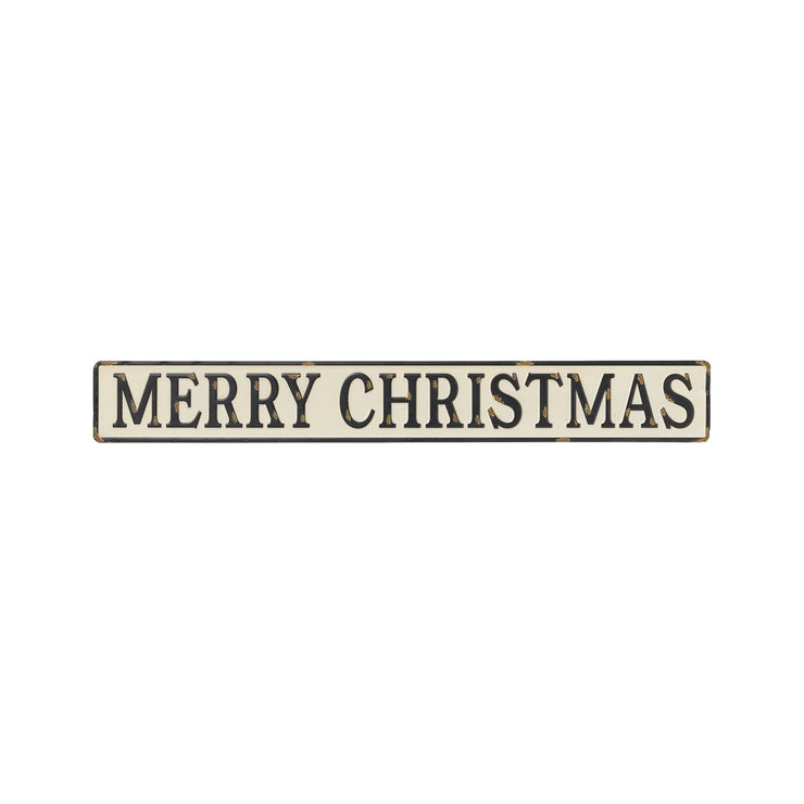 Merry Christmas Embossed Sign