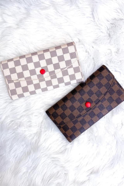 Kenneth Checkered Foldover Wallet
