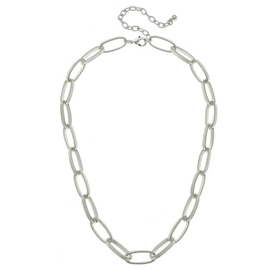 Jolie Paperclip Necklace in Silver