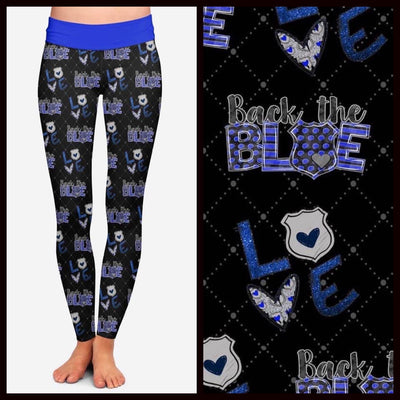 Back the Blue Leggings - Pre-Order