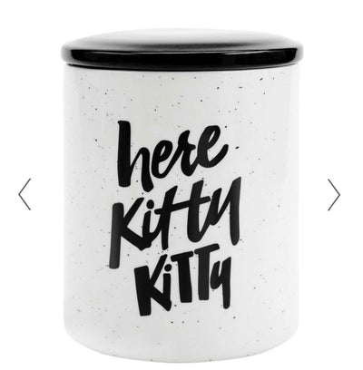 Here Kitty Kitty Cat Treat Jar