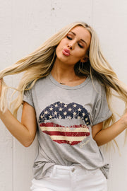 Kisses For The US Of A Graphic Tee