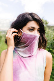 Overprotective Cowl Neck Top In Pink