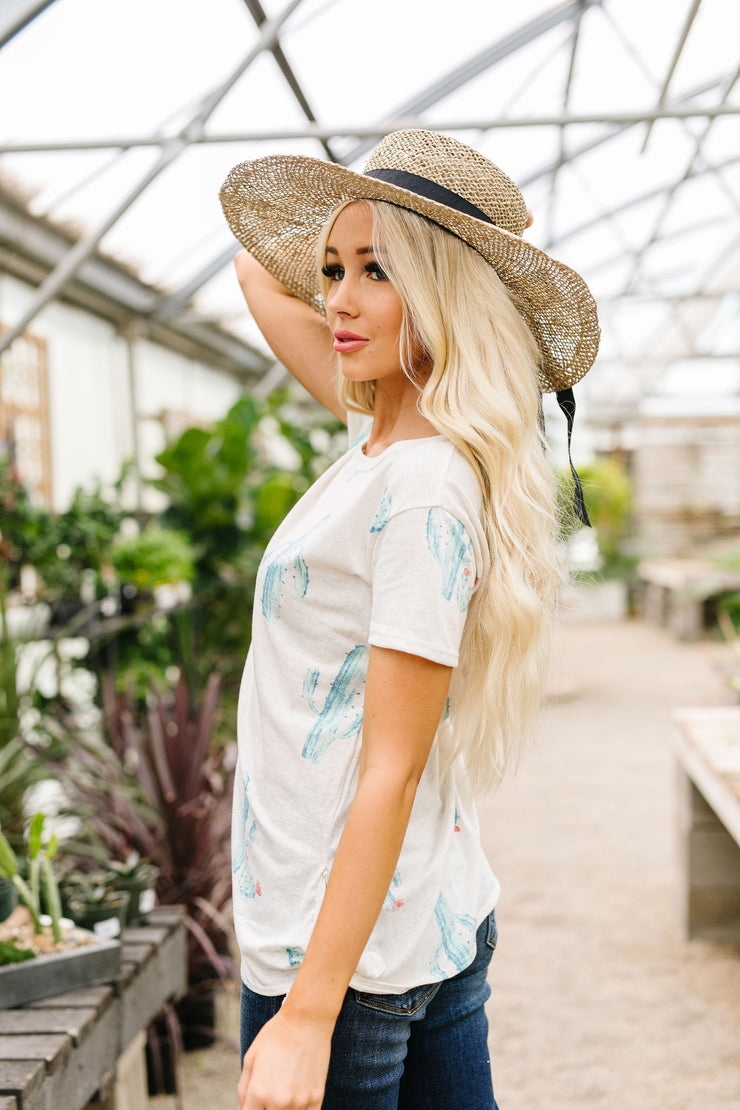 Prickly Business Top In Ivory