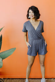 Surplice Shadow Romper