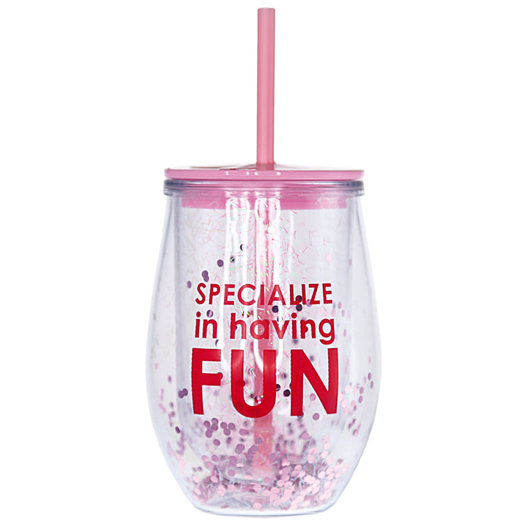 Specialize in Having Fun Wine Tumbler