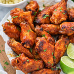 Bowl of spicy mango chicken wings