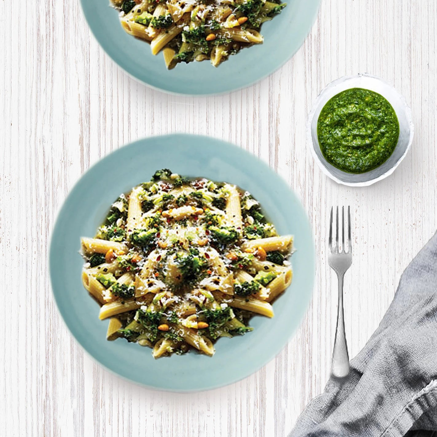Broccoli Pesto Penne (Vegetarian)
