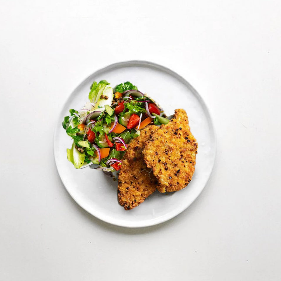 Chicken Schnitties with Salad (300g)