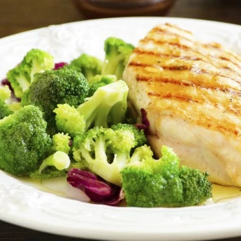 Garlic Fish with Carrot and Broccoli (400g)