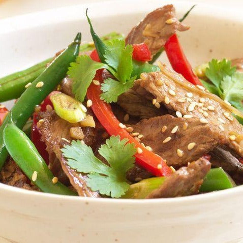 Garlic & ginger stir fry beef