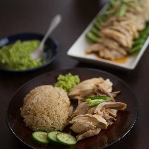 Hainan Chicken with ginger and shallot dressing