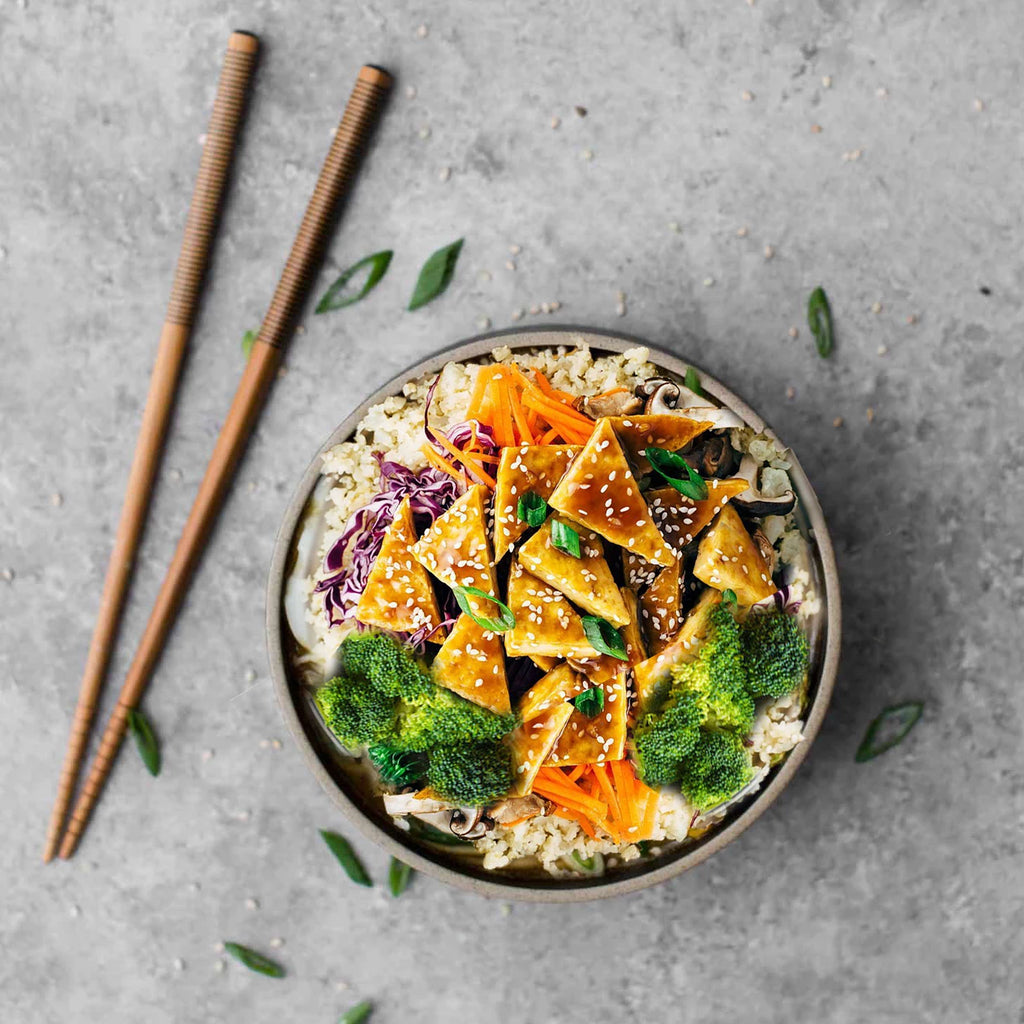 Korean Vegetarian Bowl with Brown Rice