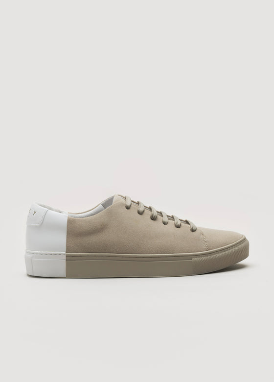 Two-Tone Low Suede Camel-White