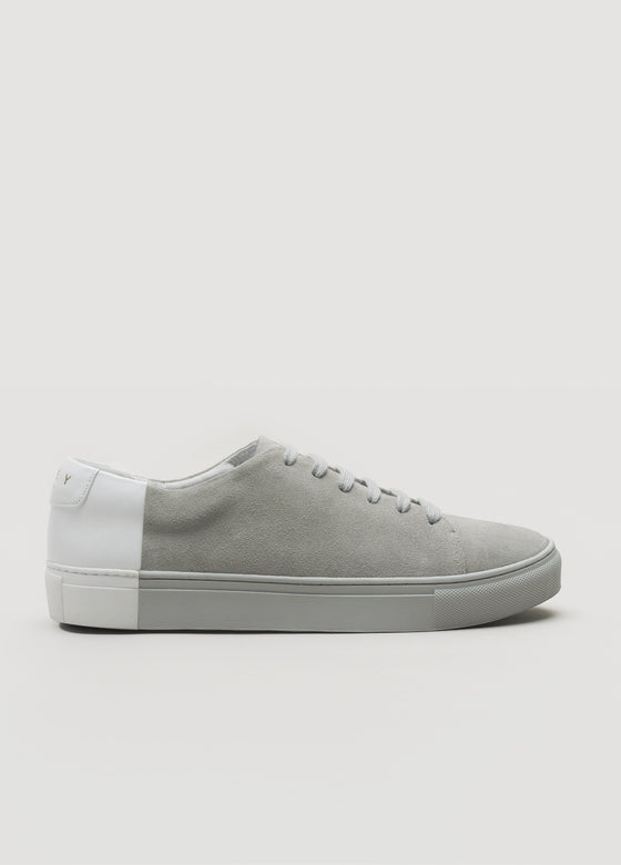 Two-Tone Low Suede Grey-White