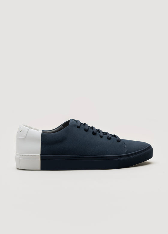 Two-Tone Low Suede Navy-White