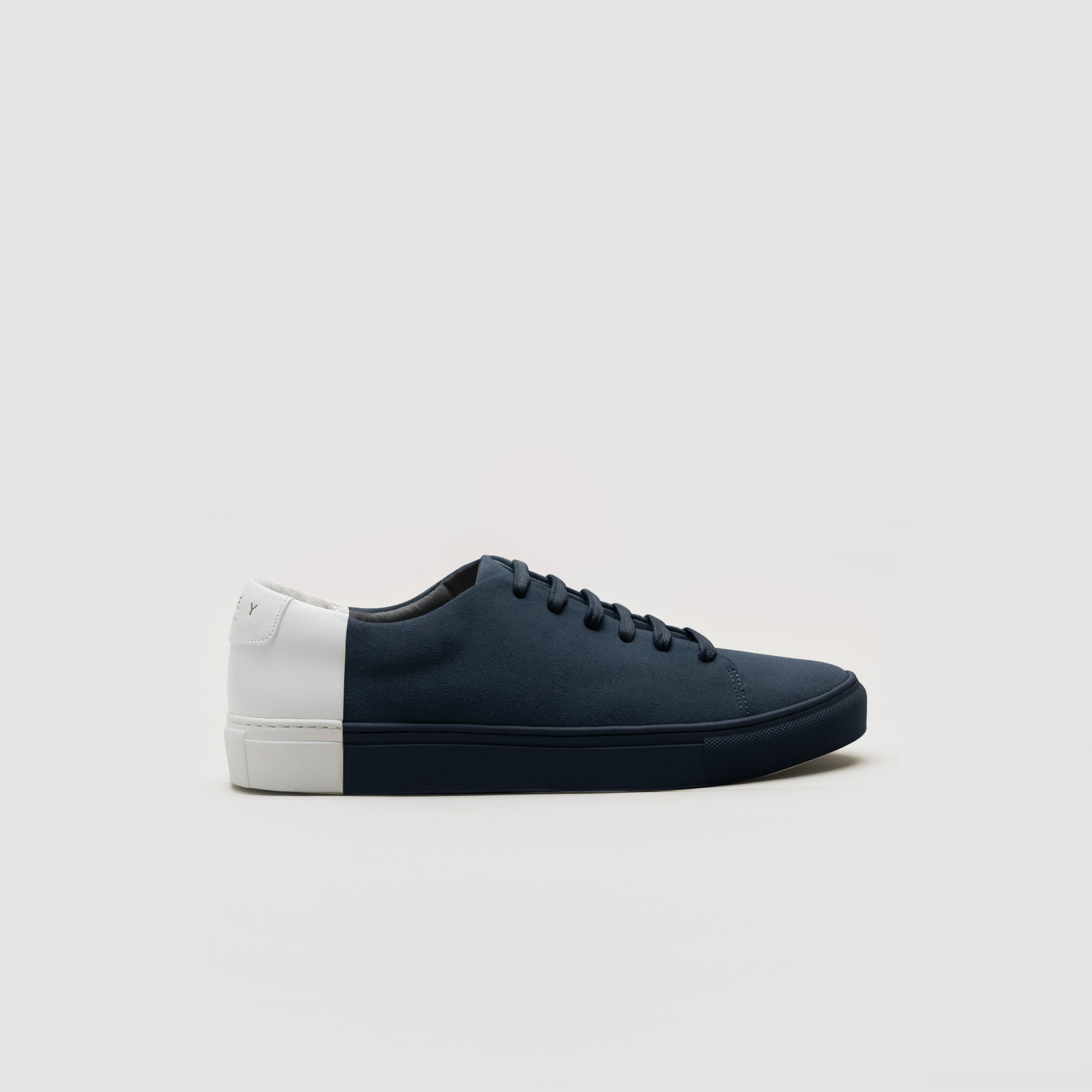 6557569656 Two-Tone Low Suede Navy-White – THEY NEW YORK
