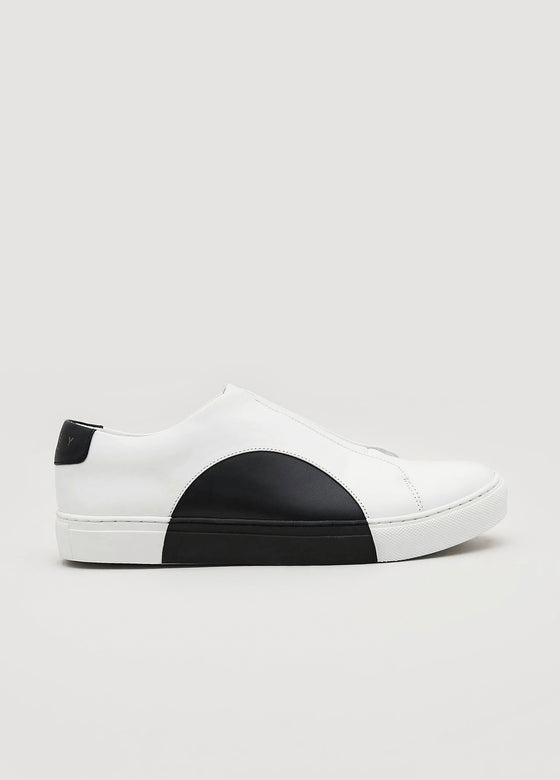 Slip-On Circle Low in White-Black