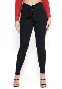 Tie High Waist Leggings