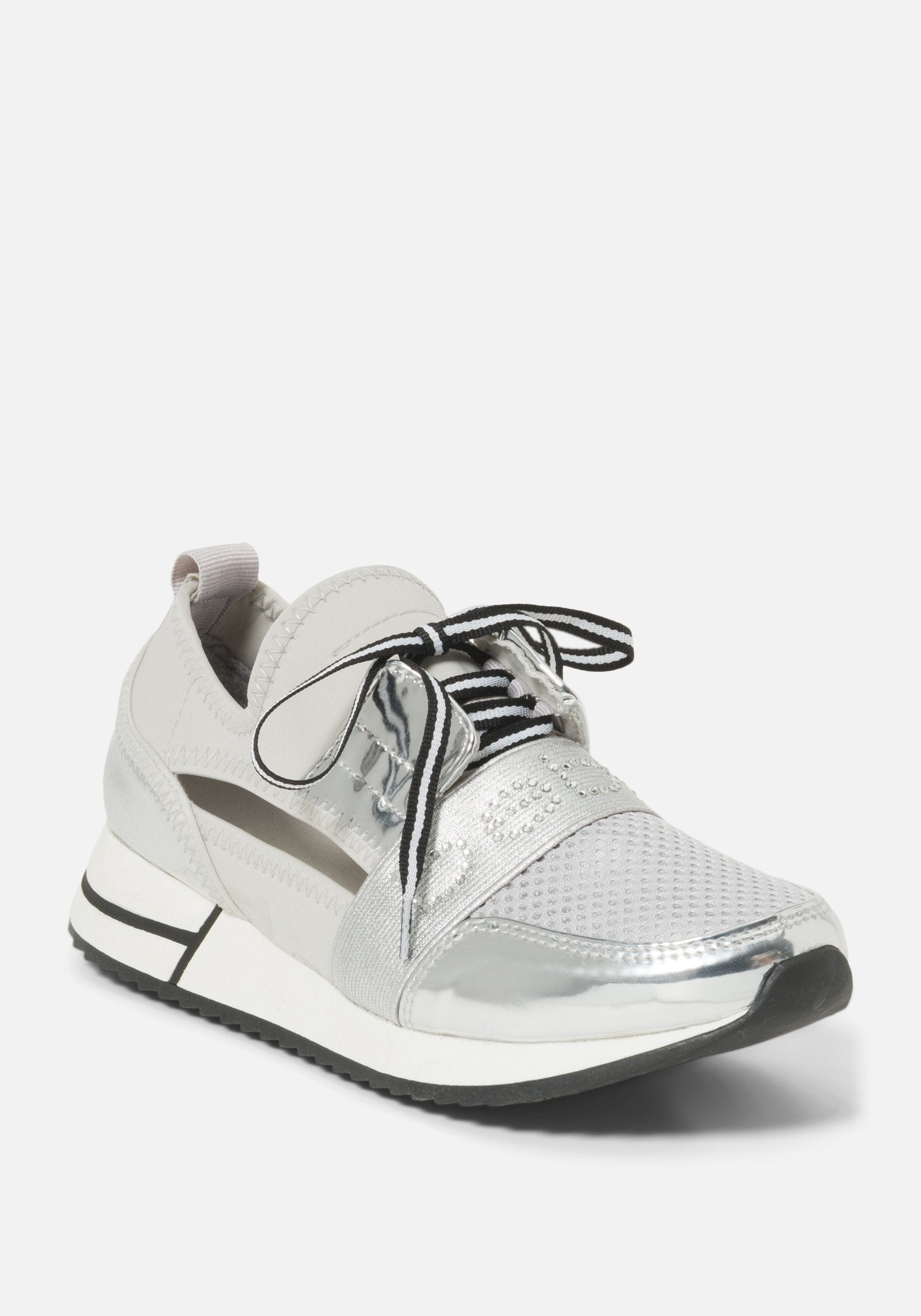 Image of Bebe Women's Brienna Shoe, Size 9.5 in GREY SILVER Synthetic