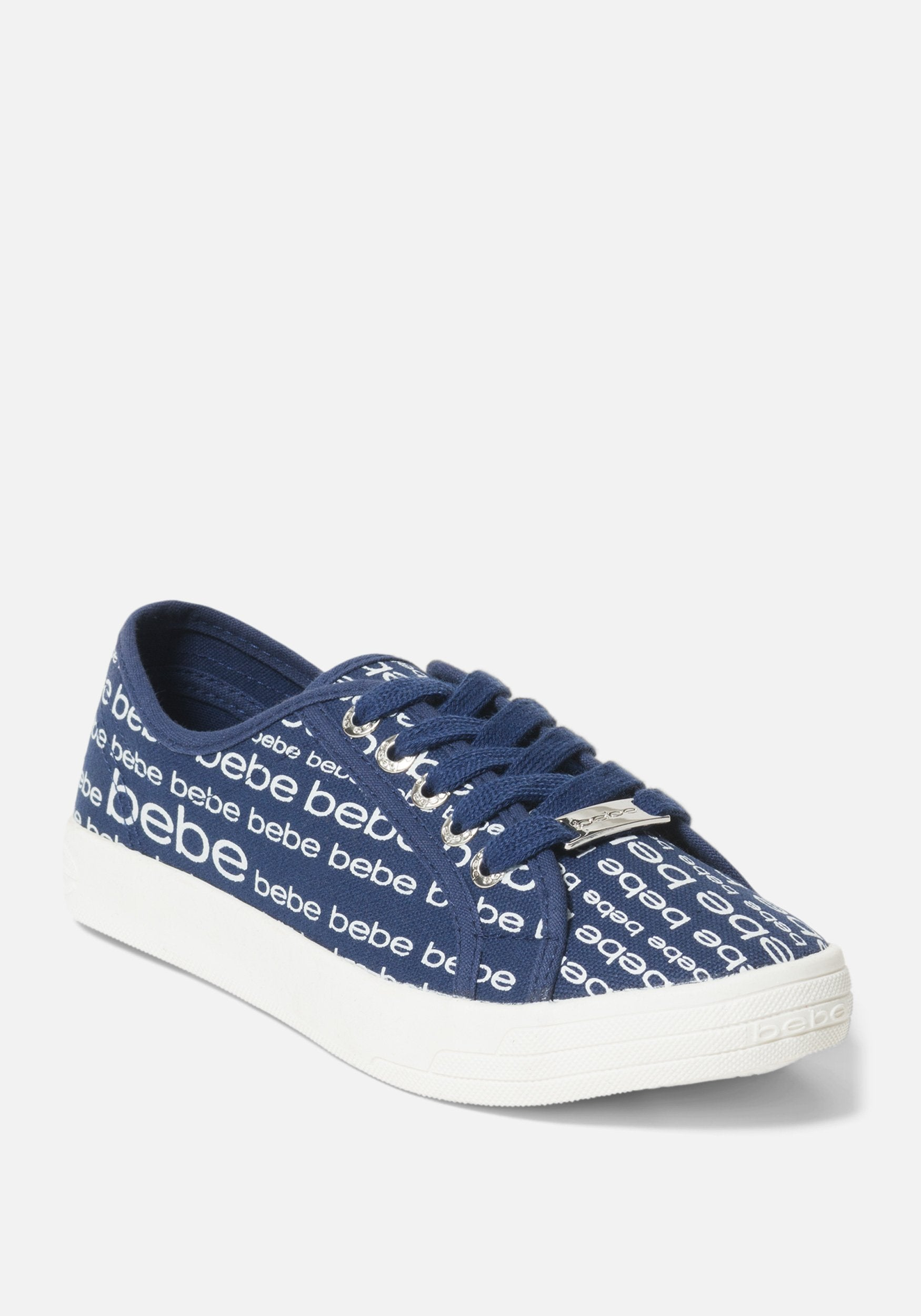 Women's Daylin Bebe Logo Sneakers, Size 6 in Navy Blue Synthetic