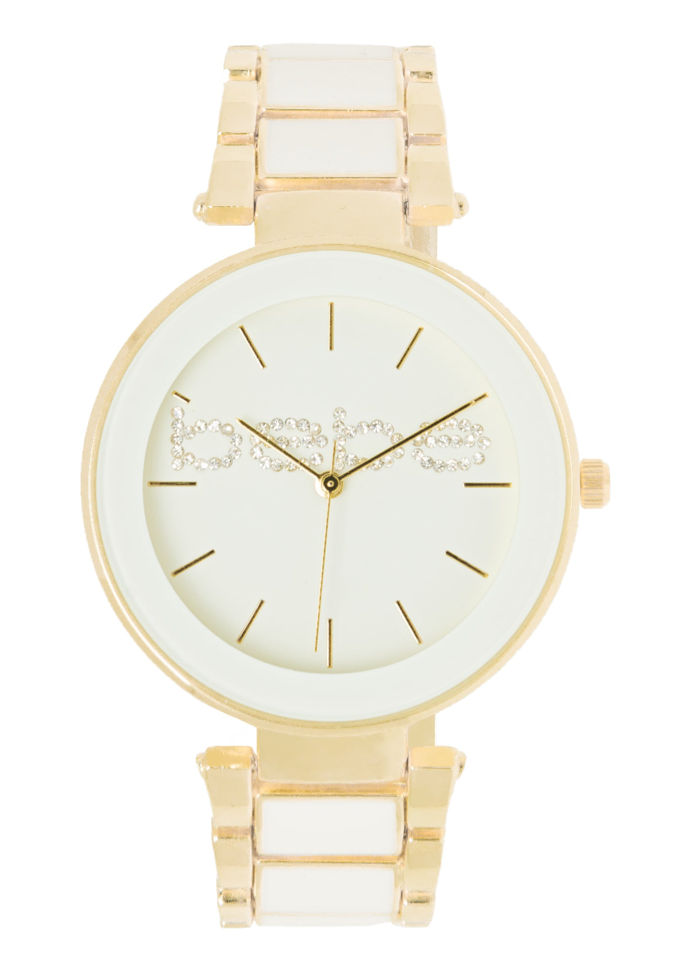 Bebe Women's Goldtone And White Watch in WHITE GOLD