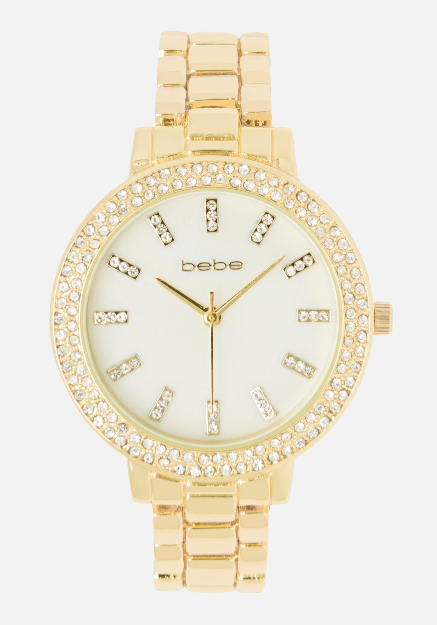 Bebe Women's Pearlized Dial Watch in GOLD