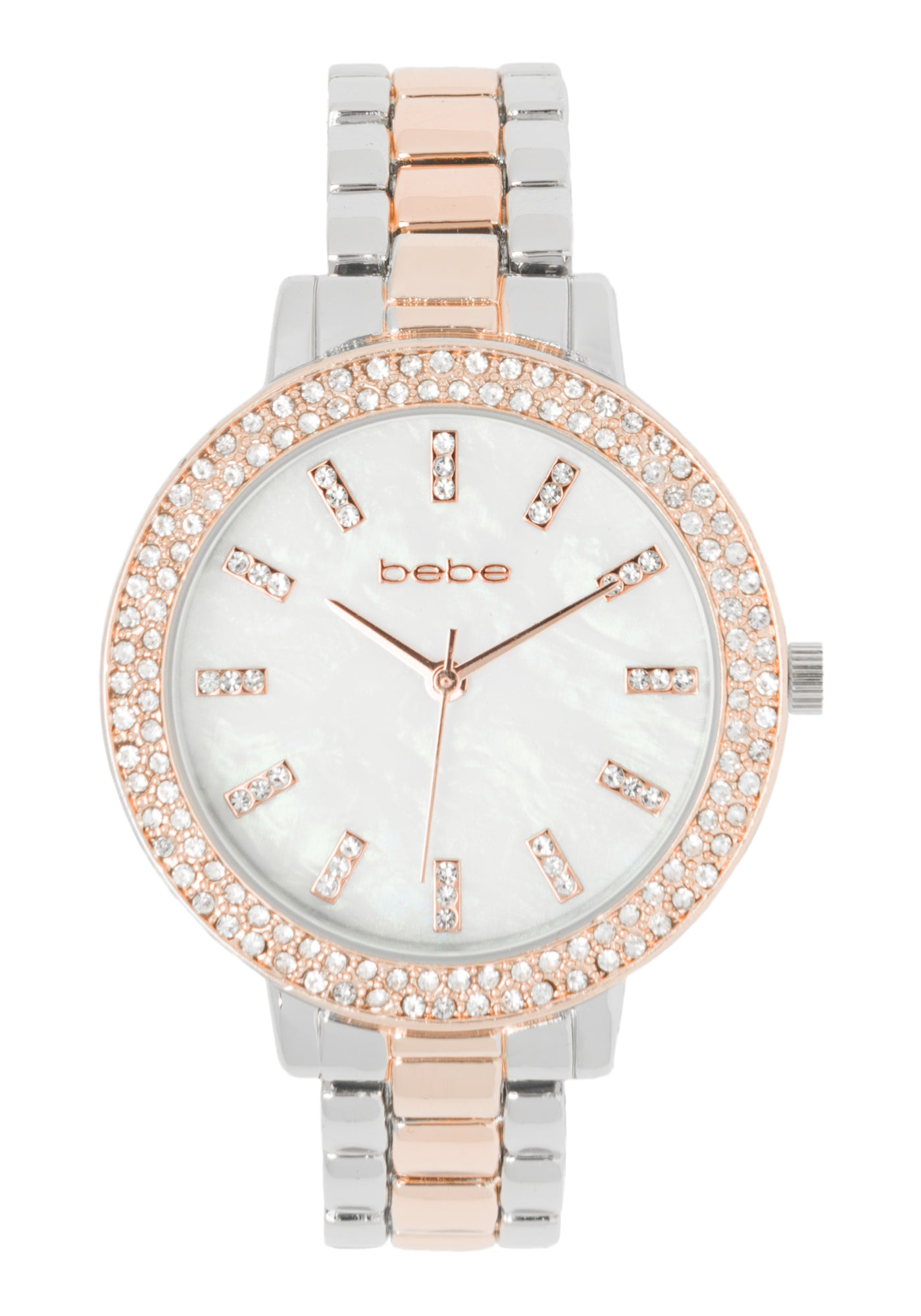 Bebe Women's Mixed Metal Watch Crystal