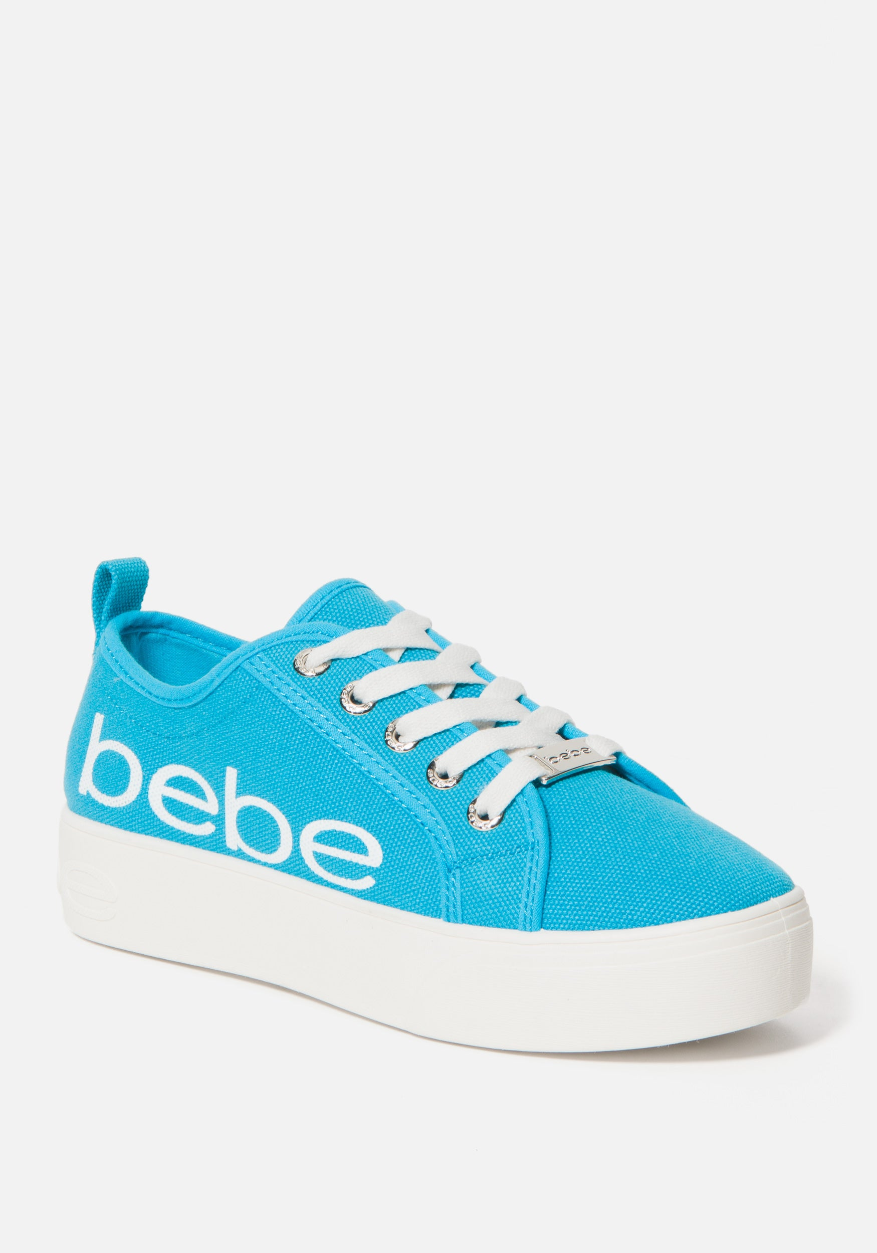 Bebe Women's Destini Platform Sneakers, Size 6 in AQUA Synthetic